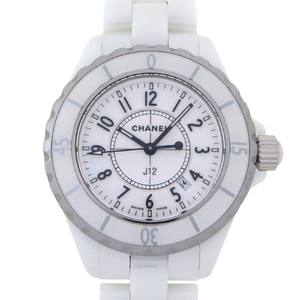 Chanel J12 Ladies Watch H0968 Ceramic White Arabian Dial DH57232