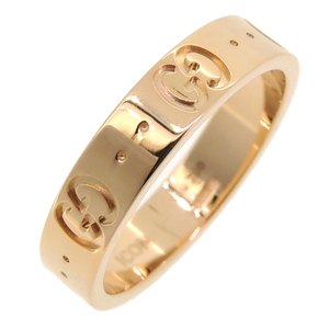 Gucci Icon Ladies Ring / 750 Pink Gold No. 10.5 DH57268