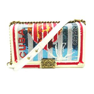 Chanel Boy Chain Shoulder CUBA Cuba Ladies Bag A67086 Leather Multi DH57227