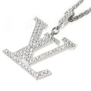 Louis Vuitton Pandantiff LV GM Ladies Necklace Q93670 750 White Gold DH57102