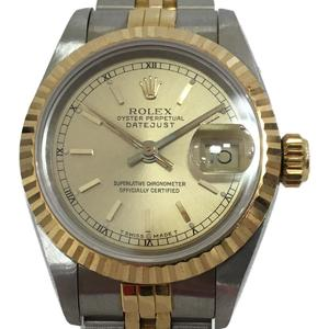ROLEX Rolex Datejust Ladies Watch Automatic Stainless Steel SS K18YG 750 Yellow Gold 69173