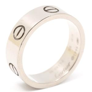Cartier Love Ring K18WG 750 White Gold # 58 No. 17