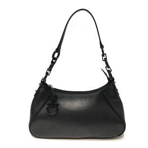 Salvatore Ferragamo Shoulder Bag Ladies Formal Black Leather