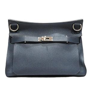 HERMES Hermes Gypsiere 34 Shoulder Bag Men Women Ladies Blue de Plus Taurillon Clemence