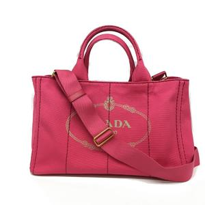 PRADA Prada Kanapato Tote Bag Ladies Shoulder Canvas 1BG642