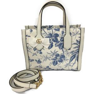 GUCCI Gucci 2way shoulder tote bag canvas leather 443089