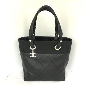 CHANEL Paris Biarritz Tote PM Bag Ladies PVC-coated Canvas