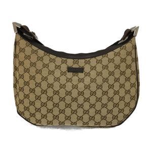 GUCCI Gucci shoulder bag beige brown canvas 122790