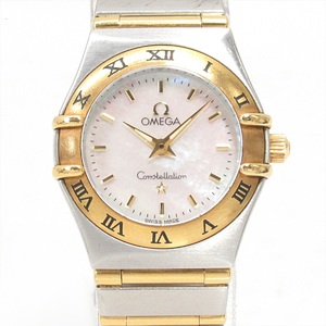 OMEGA Omega Constellation Mini Watch Ladies Quartz Stainless Steel SSxK18YG Yellow Gold 1362.70