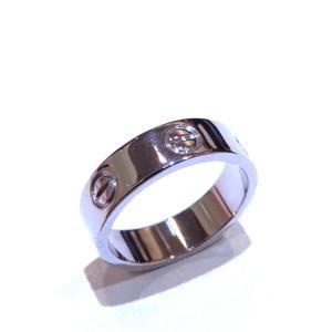 Cartier Love Ring K18WG 750 White Gold # 54 13.5