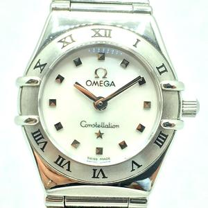 OMEGA Omega Constellation Mini My Choice Ladies Watch Quartz White Shell Stainless Steel SS 1561.71
