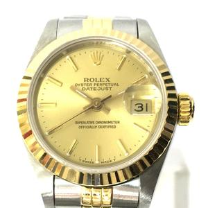 ROLEX Rolex Datejust Watch Ladies Automatic K18YG 750 Yellow Gold Stainless Steel SS 69173