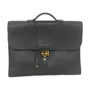 HERMES sack adépeche 41 briefcase business bag black fjord