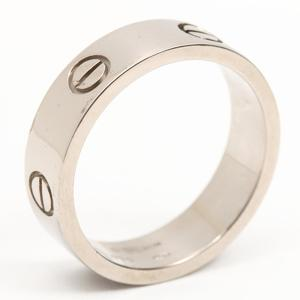 Cartier Love ring K18WG 750 white gold # 61 20.5