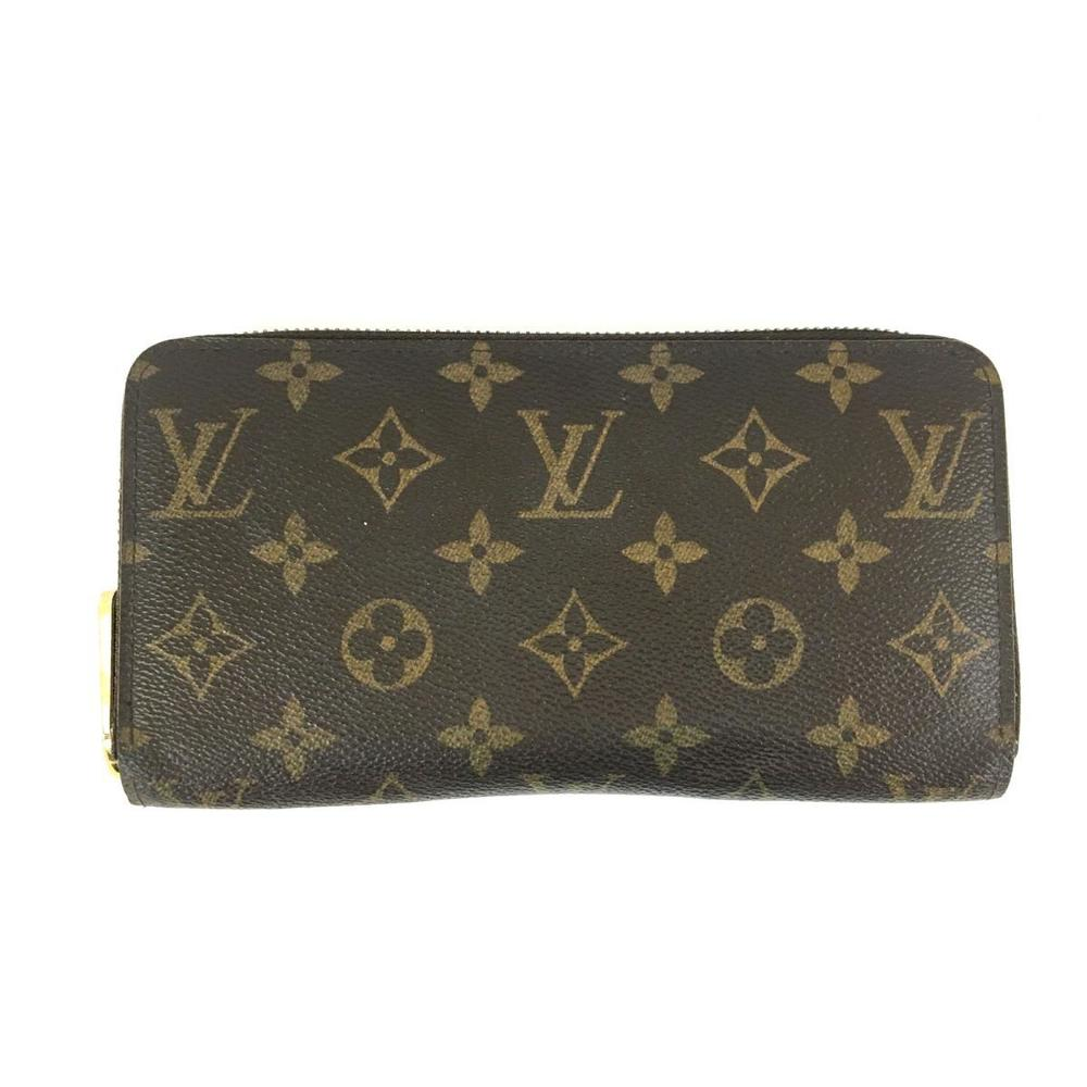LOUIS VUITTON Louis Vuitton Zippy Wallet Men Women Ladies Monogram M60017