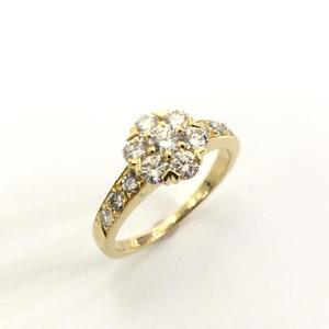 Van Cleef & Arpels Jewelery Fluret Ring Ladies K18YG 750 Yellow Gold Diamond No. 8