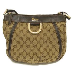 GUCCI Gucci shoulder bag ladies dark canvas leather 203257