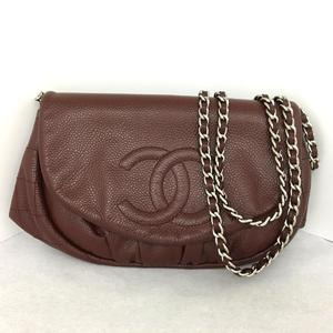 CHANEL chain shoulder bag wallet caviar skin