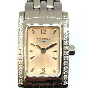 LONGINES Longines DolceVita Diamond Ladies Watch Quartz Salmon Stainless Steel SS 28P L5.158.0