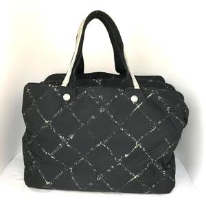 CHANEL Travel Line Tote Bag Ladies Nylon