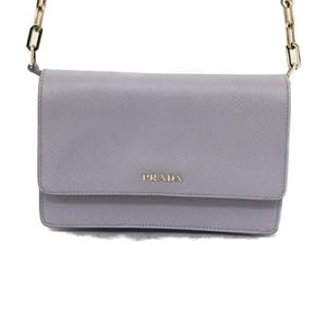 PRADA Prada chain shoulder bag ladies lavender leather BT1045