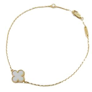 Van Cleef & Arpels Sweet Alhambra Breath Red Bracelet K18YG 750 Yellow Gold Shell