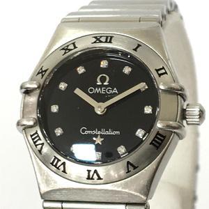 OMEGA Omega Constellation Mini 12P Diamond Ladies Watch Quartz Stainless Steel SS 1562.56