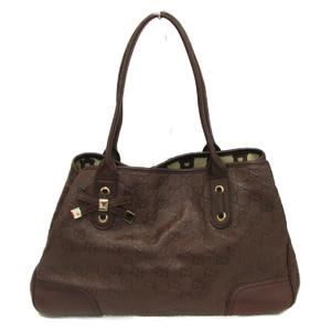 GUCCI Gucci tote bag shoulder ladies dark calf 163805