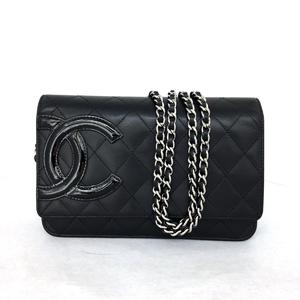 CHANEL Cambon line Chain wallet Shoulder bag Calf