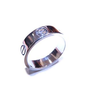 Cartier Love Ring K18WG 750 White Gold # 56 15.5