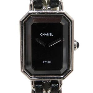 CHANEL Premiere L Watch Wrist Ladies Quartz Stainless Steel SS Leather