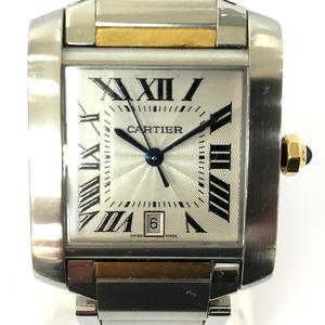 Cartier Tank Francaise LM Watch Boys Automatic K18YG 750 Yellow Gold Stainless Steel SS W51005Q4