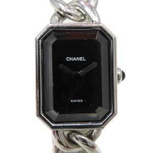 CHANEL Premiere L Watch Wrist Ladies Quartz Stainless Steel SS H3250