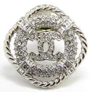CHANEL Chanel B19C Coco Mark Rhinestone Brooch Metal