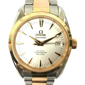 OMEGA Omega Seamaster Aqua Terra Co-Axial Watch Automatic Stainless Steel SS K18RG 750 Red Gold 2304.30