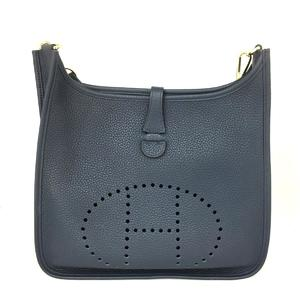 HERMES Hermes Evelyn 3PM Shoulder Bag Men Women Ladies Blue Abyss G Hardware Taurillon Clemence