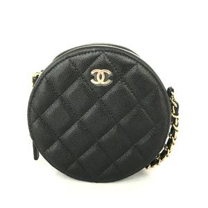 CHANEL chain shoulder bag ladies caviar skin A70657