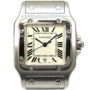 Cartier Santos Galve MM Watch Wrist Boys Quartz Stainless Steel SS