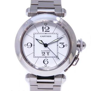 Cartier Pasha C Big Date Watch Boys Wrist Automatic Stainless Steel SS