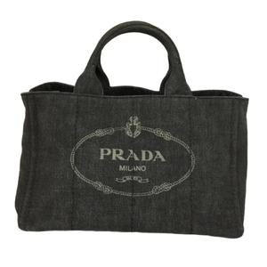 PRADA Prada 2WAY kanapa tote bag shoulder ladies denim canvas 1BG642