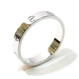Cartier Mini Love Ring K18WG 750 White Gold # 59 No. 18