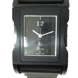 Dior Christian Chris Watch Boys Quartz Black Aluminum Nylon D100-321-NON