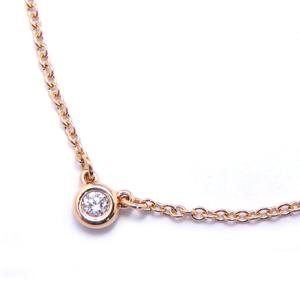TIFFANY & CO Tiffany By The Yard Necklace Ladies K18PG 750 Pink Gold Diamond