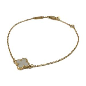Van Cleef & Arpels Jewelry Sweet Alhambra Bracelet K18YG 750 Yellow Gold Shell