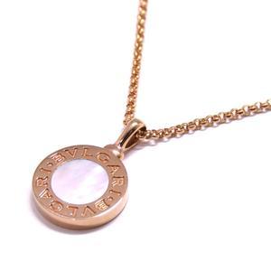 BVLGARI Bvlgari Necklace K18PG 750 Pink Gold Mother of Pearl 350553