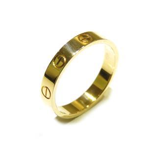 Cartier Mini Love Ring K18YG 750 Yellow Gold # 53 No. 13