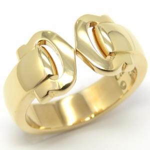 Cartier C2 Boucurse Ring K18YG 750 Yellow Gold # 53 No. 13