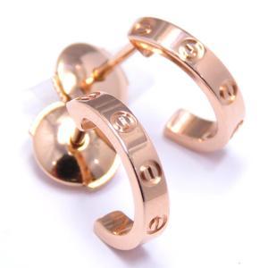 Cartier mini love earrings K18PG 750 pink gold