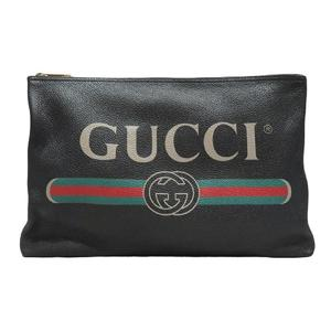 GUCCI Gucci Portfolio Clutch Bag Second Leather 500984