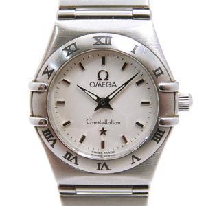 OMEGA Omega Constellation Mini Watch Wrist Ladies Quartz Stainless Steel SS